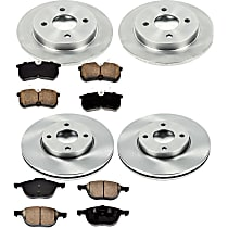 78OEREP13 SureStop OE Replacement Front And Rear Brake Disc and Pad Kit, 4-Wheel Set