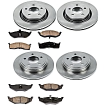 SureStop Front And Rear Replacement Brake Disc and Pad Kit - 4-Wheel Set, Models With Performance Package, With 297mm (11.7 in.) Front Rotors