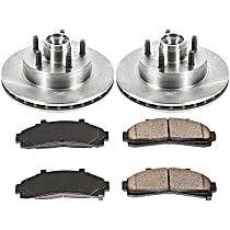 SureStop Front Replacement Brake Disc and Pad Kit - 2-Wheel Set, RWD Models With 4-Wheel ABS, With 9 in. or 10 in. Rear Drum