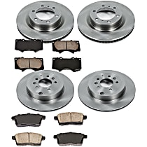 79OEREP58 SureStop OE Replacement Front And Rear Brake Disc and Pad Kit, 4-Wheel Set