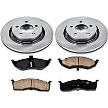 SureStop Front Replacement Brake Disc and Pad Kit - 2-Wheel Set, Models With Performance Package, With 297mm (11.7 in.) Front Rotor