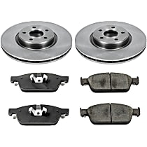SureStop Front Replacement Brake Disc and Pad Kit - 2-Wheel Set, Models With 320mm (12.6 in.) Front Brake Disc