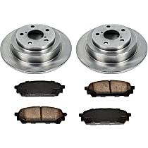 SureStop Rear Replacement Brake Disc and Pad Kit - 2-Wheel Set