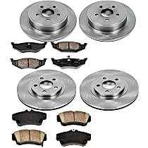 80OEREP61 SureStop OE Replacement Front And Rear Brake Disc and Pad Kit, 4-Wheel Set