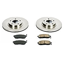82OEREP22 SureStop OE Replacement Front Brake Disc and Pad Kit, 2-Wheel Set