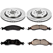 SureStop Front Replacement Brake Disc and Pad Kit - 2-Wheel Set, Incl. 13.78 in. Replacement Rotors