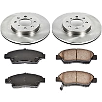 82OEREP53 SureStop OE Replacement Front Brake Disc and Pad Kit, 2-Wheel Set