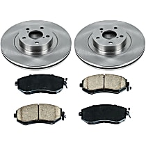 82OEREP60 SureStop OE Replacement Front Brake Disc and Pad Kit, 2-Wheel Set