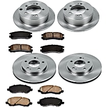 83OEREP16 SureStop OE Replacement Front And Rear Brake Disc and Pad Kit, 4-Wheel Set