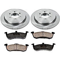 SureStop Rear Replacement Brake Disc and Pad Kit - 2-Wheel Set, Incl. 13.46 in. Replacement Rotors