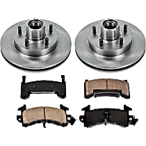 SureStop Front Replacement Brake Disc and Pad Kit - 2-Wheel Set, RWD Models, Incl. 10.51 in. Replacement Rotors