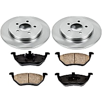 SureStop Rear Replacement Brake Disc and Pad Kit - 2-Wheel Set, Models With Rear Disc, Incl. 11.89 in. Replacement Rotors
