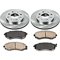 87OEREP10 SureStop OE Replacement Front Brake Disc and Pad Kit, 2-Wheel Set