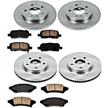 87OEREP15 SureStop OE Replacement Front And Rear Brake Disc and Pad Kit, 4-Wheel Set