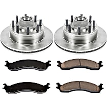 SureStop Front Replacement Brake Disc and Pad Kit - 2-Wheel Set, RWD Models With Single Rear Wheel