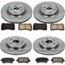 88OEREP61 SureStop OE Replacement Front And Rear Brake Disc and Pad Kit, 4-Wheel Set