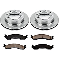 SureStop Front Replacement Brake Disc and Pad Kit - 2-Wheel Set, 4WD Models