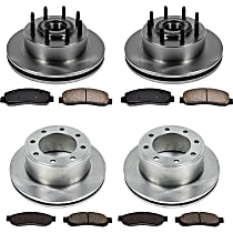SureStop Front And Rear Replacement Brake Disc and Pad Kit - 4-Wheel Set, RWD Models Built Up To 2/12/2010