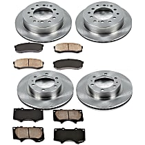 8OEREP13 SureStop OE Replacement Front And Rear Brake Disc and Pad Kit, 4-Wheel Set