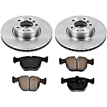 8OEREP50 SureStop OE Replacement Front Brake Disc and Pad Kit, 2-Wheel Set