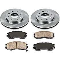 90OEREP10 SureStop OE Replacement Front Brake Disc and Pad Kit, 2-Wheel Set