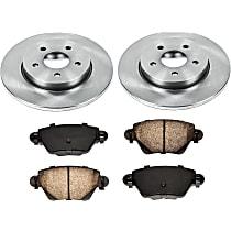 SureStop OE Replacement Rear Brake Disc and Pad Kit, 2-Wheel Set