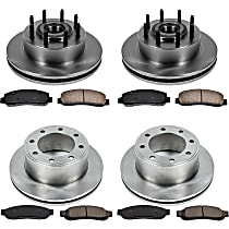 SureStop Front And Rear Replacement Brake Disc and Pad Kit - 4-Wheel Set, RWD Models Built From 2/12/2010