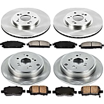 SureStop OE Replacement Front And Rear Brake Disc and Pad Kit, 4-Wheel Set