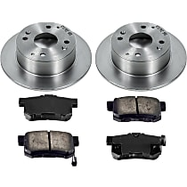 SureStop OE Replacement Rear Brake Disc and Pad Kit, 2-Wheel Set