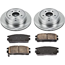 92OEREP20 SureStop OE Replacement Rear Brake Disc and Pad Kit, 2-Wheel Set