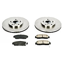 Front Brake Disc and Pad Kit, 2-Wheel Set