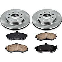 93OEREP10 SureStop OE Replacement Front Brake Disc and Pad Kit, 2-Wheel Set