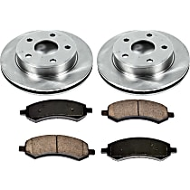 93OEREP21 SureStop OE Replacement Front Brake Disc and Pad Kit, 2-Wheel Set