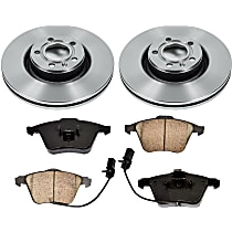 SureStop Front Replacement Brake Disc and Pad Kit - 2-Wheel Set, Incl. 12.64 in. Replacement Rotors
