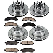 SureStop Front And Rear Replacement Brake Disc and Pad Kit - 4-Wheel Set, RWD Models, Incl. 13.03 in. Front/12.84 in. Rear