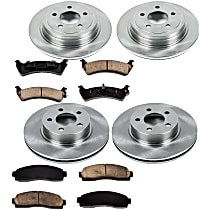 SureStop Front And Rear Replacement Brake Disc and Pad Kit - 4-Wheel Set, 4WD Models, Incl. 11.97 in. Front/11.83 in. Rear