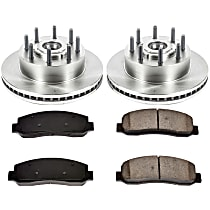 SureStop Front Replacement Brake Disc and Pad Kit - 2-Wheel Set, RWD Models