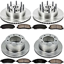 SureStop Front And Rear Replacement Brake Disc and Pad Kit - 4-Wheel Set, RWD Models, Incl. 13.64 in. Front/13.39 in. Rear