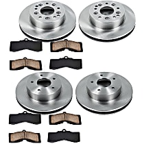 SureStop Front And Rear Replacement Brake Disc and Pad Kit - 4-Wheel Set