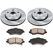 97OEREP30 SureStop OE Replacement Front Brake Disc and Pad Kit, 2-Wheel Set