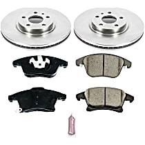 98OEREP16 SureStop OE Replacement Front Brake Disc and Pad Kit, 2-Wheel Set