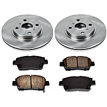 9OEREP10 SureStop OE Replacement Front Brake Disc and Pad Kit, 2-Wheel Set