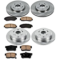 9OEREP22 SureStop OE Replacement Front And Rear Brake Disc and Pad Kit, 4-Wheel Set