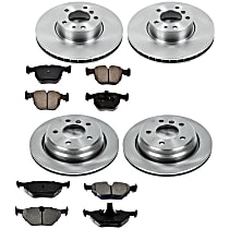 9OEREP50 SureStop OE Replacement Front And Rear Brake Disc and Pad Kit, 4-Wheel Set