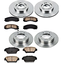 9OEREP79 SureStop OE Replacement Front And Rear Brake Disc and Pad Kit, 4-Wheel Set