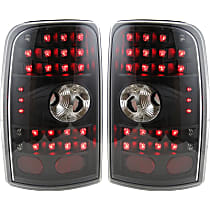 Driver and Passenger Side Tail Light, With bulb(s) - Clear Lens; Black Interior