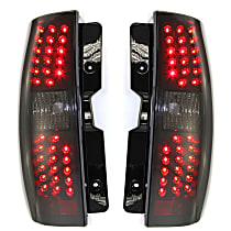 Driver and Passenger Side Tail Light, With bulb(s) - Smoked Lens, Black Interior, Exc. Hybrid Model