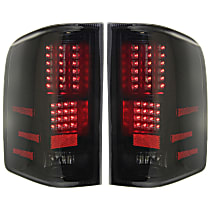 Driver and Passenger Side Tail Light, Without bulb(s) - Smoked Lens, Black Interior, Exc. Hybrid
