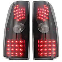 Driver and Passenger Side Tail Light, With bulb(s) - Smoked Lens, Black Interior, Exc. Hybrid