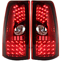 Driver and Passenger Side Tail Light, With bulb(s) - Clear & Red Lens, Exc. Hybrid